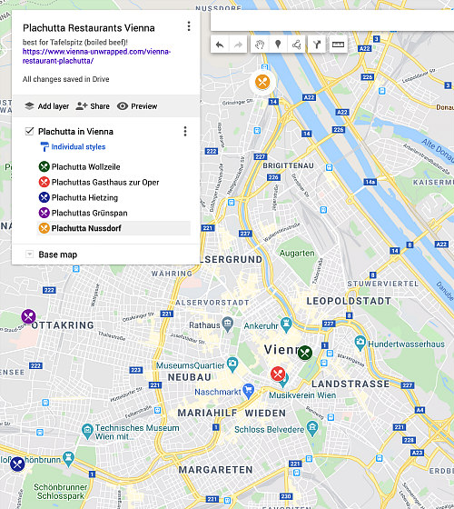 Plachutta restaurant map Vienna