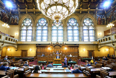 Council Chamber of Rathaus Vienna